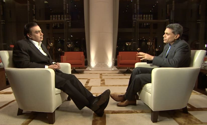 Fareed Zakaria in conversation with Mukesh Ambani on CNN's GPS show