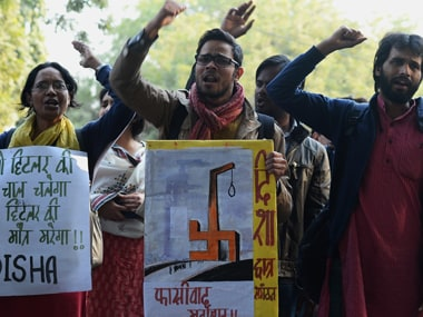 JNU protest. AFP