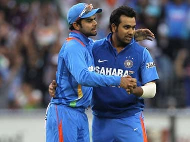 Virat Kohli and Rohit Sharma. Getty