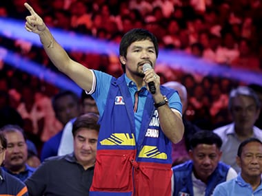 A file photo of Manny Pacquiao. Reuters
