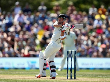 Brendon McCullum on his way to fastest Test century at Christchurch against Australia. Getty