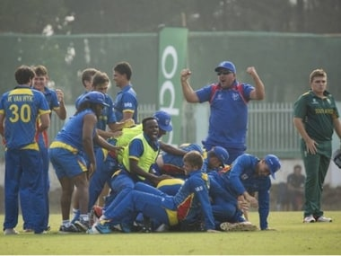 Minnows Namibia knocked out South Africa from the U-19 World Cup. Image Courtesy: Twitter/ICC