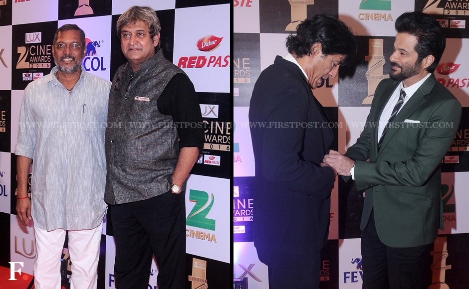 Nana Patekar looked simple and sombre on the red carpet while posing with the flamboyant Mahesh Manjrekar. Chunky Pandey and Anil Kapoor on the other hand shared an intimate moment. Sachin Gokhale/Firstpost