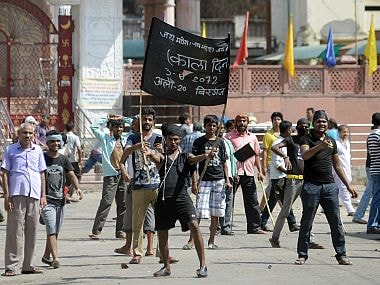 Protests in Nepal. AP