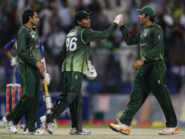 File photo of the Pakistan cricket team. Reuters