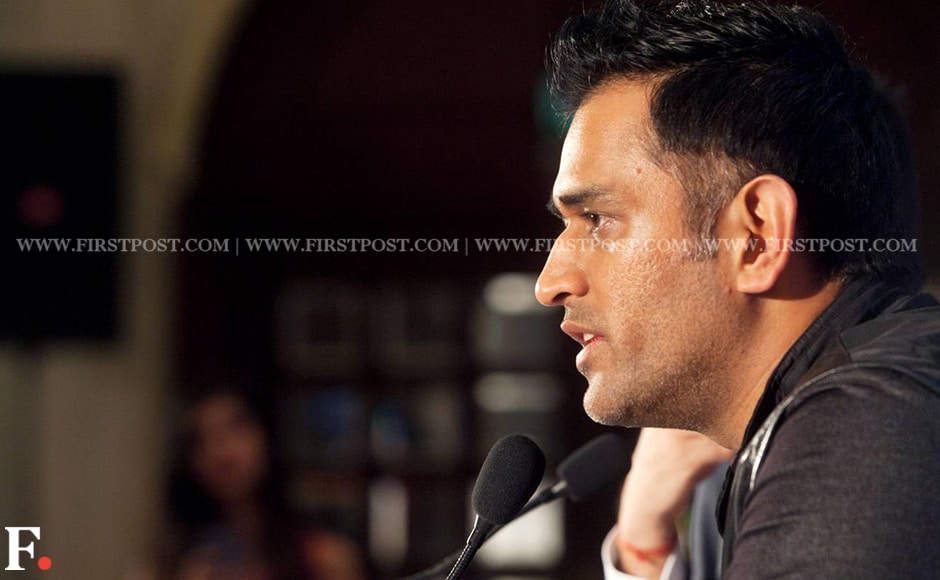 """""""I would be lying if I say I have moved on. There is got to be an emotional connect after eight years (with CSK),"""" Dhoni said. Image Credit: Naresh Sharma/Firstpost"""