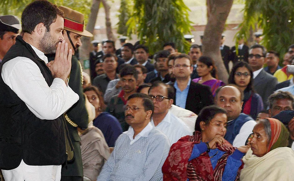 """Congress vice president Rahul Gandhi offers his condolences to Lance Naik Koppad's family. In an earlier statement he said, """"In his life and his passing Lance Naik Hanumanthappa has shown the world the meaning of perseverance & courage. His extraordinary spirit and tenacity, till the very end, is an inspiration for all. My thoughts & prayers are with his bereaved family."""" PTI"""