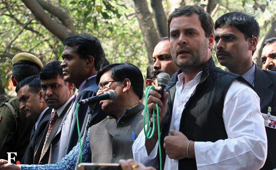 "Accusing the Centre of muzzling the voice of students across universities in the country if they differ with ideology of RSS, Rahul Gandhi said Congress will fight for bringing a law to check such ""suppression"". He alleged that government was trying to suppress not only the youths but also the Adivasis, Dalits and other weaker sections. Naresh Sharma/Firstpost"