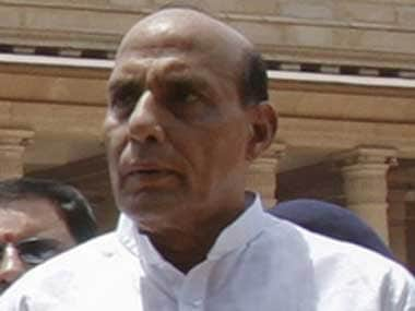 Other than 'hope', Rajnath Singh didn't seem to have much to offer. PTI