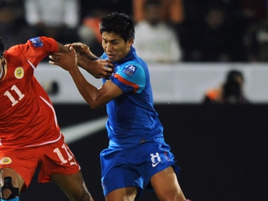 File Photo of former India footballer Renedy Singh (right). AFP