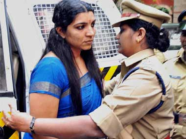 Solar Scam accused Saritha Nair in a file photo. PTI