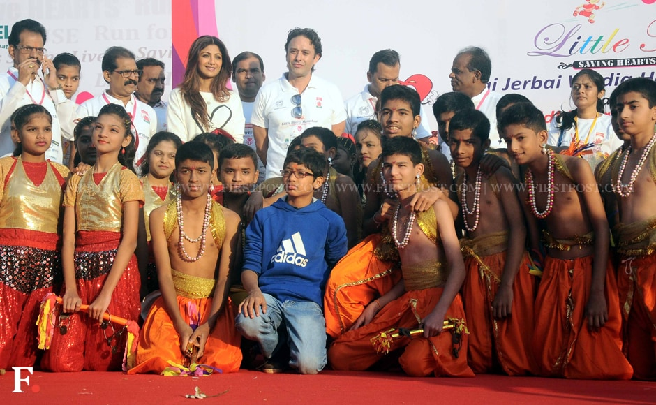 Shilpa Shetty and Ness Wadia with the participants. Sachin Gokhale/Firstpost