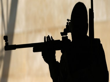 Silhouette of a sniper. Reuters