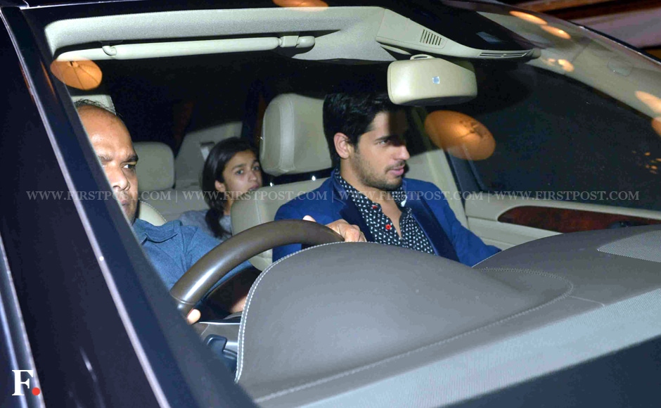Alia Bhatt and Sidharth Malhota spotted in Bandra, Mumbai. Sachin Gokhale/Firstpost
