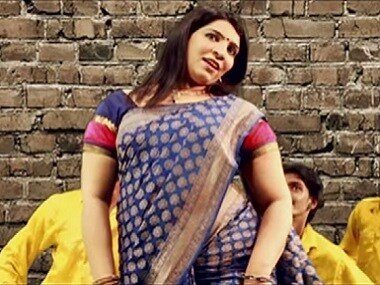 Saritha S Nair in song. Screen grab from YouTube