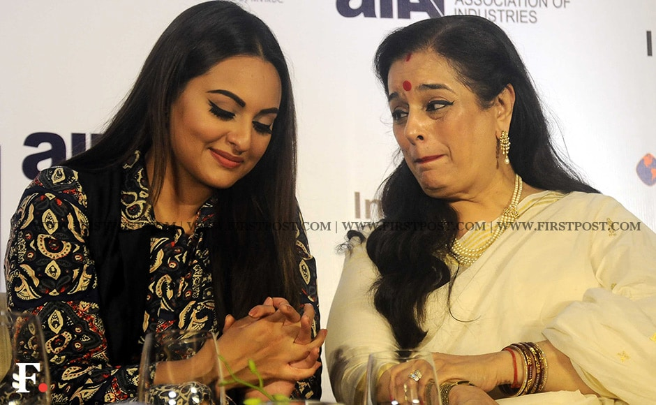 Sonakshi Sinha and her mother Poonam Sinha at the launch of Shatrughan Sinha's biography, Anything But Khamosh. One of the chapters in the book reportedly talks about Shatrughan Sinha's off screen relationship with actress Reena Roy and how their relationship continued for some time even after he married Poonam. Sachin Gokhale/ Firstpost