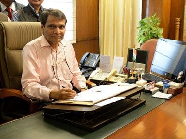 Union Railway Minister Suresh Prabhu. AFP