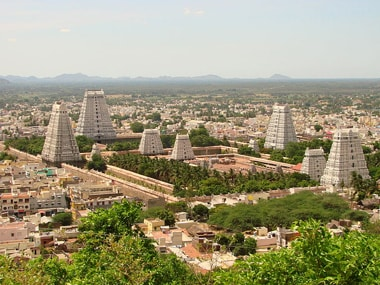 Lord Arunachaleswarar temple in Tiruvannamalai. Image: Wikimedia Commons