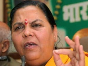 Uma Bharti in a file photo. PTI