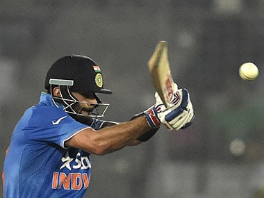 Virat Kohli in the match against Pakistan. AFP