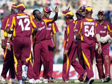 File picture of West Indies players. AFP