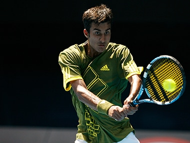Yuki Bhambri lost in singles to Belgium's Joris de Loore . Reuters