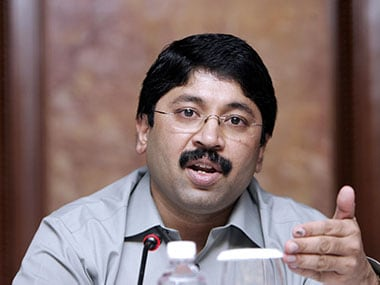 Dayanidhi Maran in a file photo. AFP