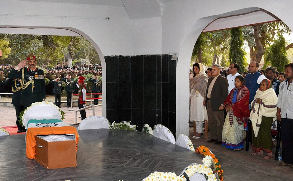 Army Chief Gen Dalbir Singh pays his tribute toLance Naik Hanumanthappa Koppad. The late soldier was being treated at the Research and Referral Army Hospital in Delhi but passed away due to multi organ failure. The oxygen-deprived cells of his body were not able to cope with metabolism pressure when glucose was administered to him in a bid to stabilise him, said Lt. General S.D. Duhan, director of the hospital. PTI