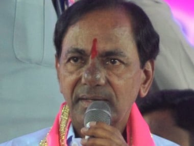 A file photo of Telangana Rashtra Samithi (TRS) party President and Telangana Chief Minister K Chandrashekar Rao. AFP