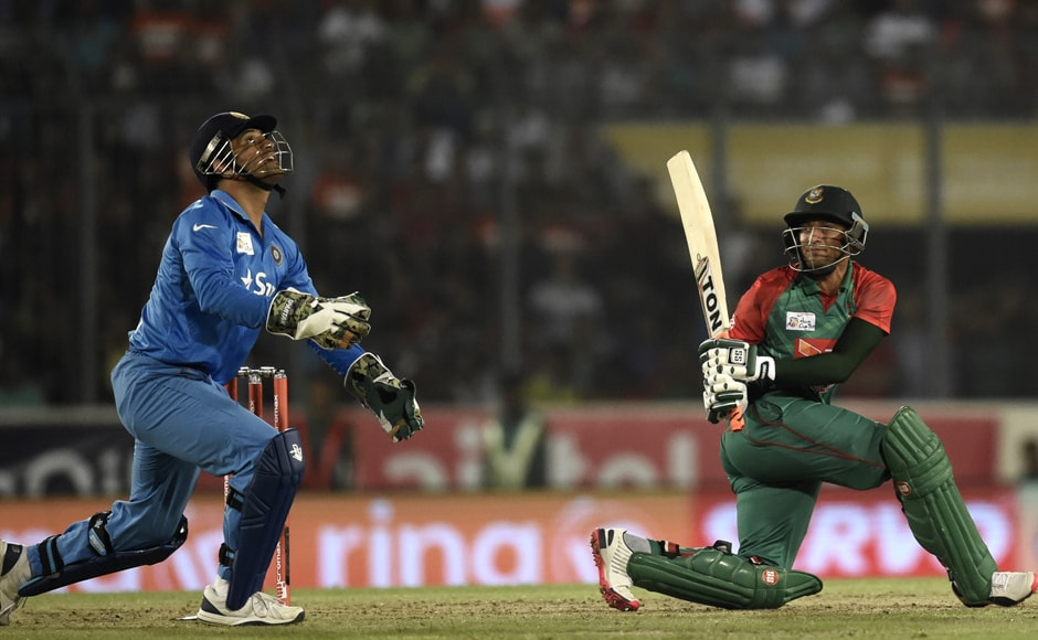 Shakib, promoted after the game was shortened, paid for his pre-determined sweep shot as he offered simple catch to Bumrah at short fine leg off Ashwin. AFP