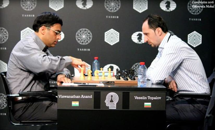 Viswanathan Anand won with the white pieces against Veselin Topalov in 49 moves (picture by Amruta Mokal)