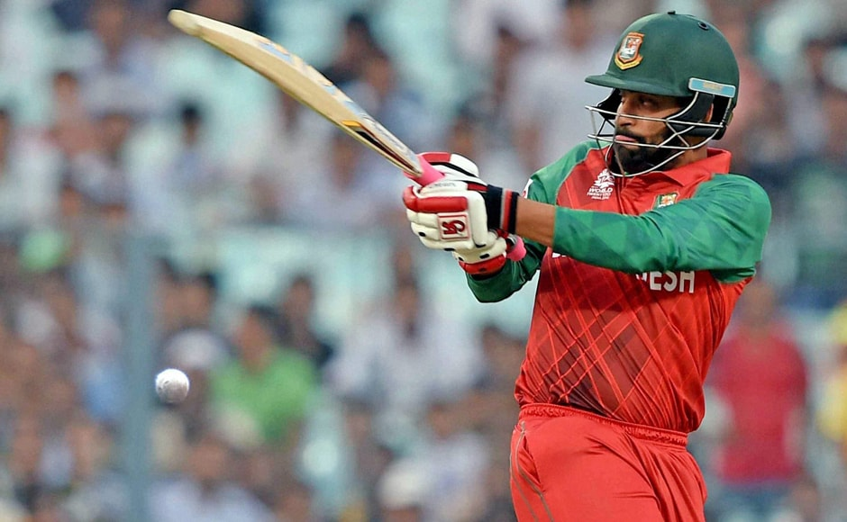 Tamim Iqbal pulls during his innings of 24 off 20 balls. PTI
