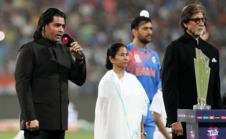 Pakistani classical singer Shafqat Amanat Ali sings the Pakistan national anthem before the start of the ICC Twenty20 World Cup match played between Indian and Pakistan at the Eden Garden Stadium in Kolkata, India on March 19, 2016. Getty Images