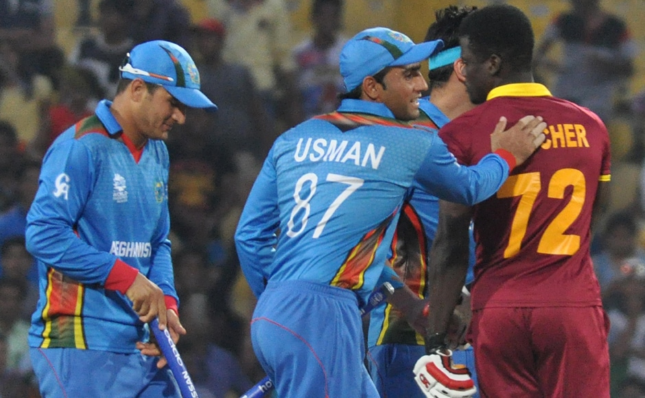 There were emotional scenes all around after Afghanistan beat West Indies by six runs to end their World T20 campaign on a high. Solaris Images