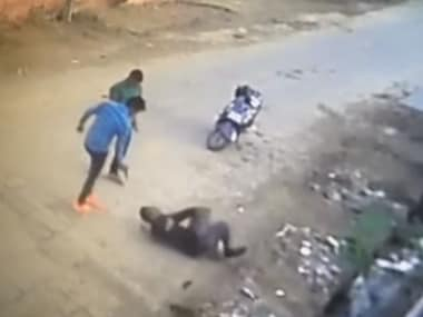 Screengrab of the CCTV footage. YouTube