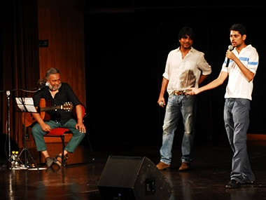 The members of Aisi Taisi Democracy on stage. Image from Facebook