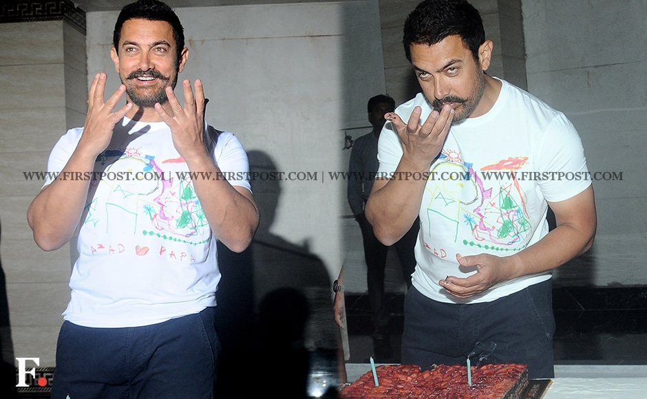 An animated Aamir Khan on his 51st birthday. Sachin Gokhale/Firstpost