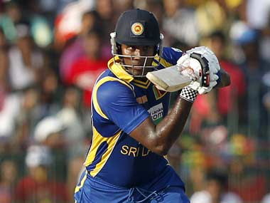 Sri Lanka captain Angelo Mathews. Reuters