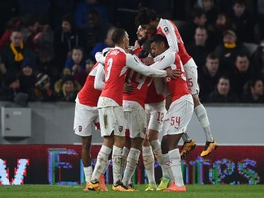 Arsenal stretch their three-year unbeaten run in the FA Cup. AFP