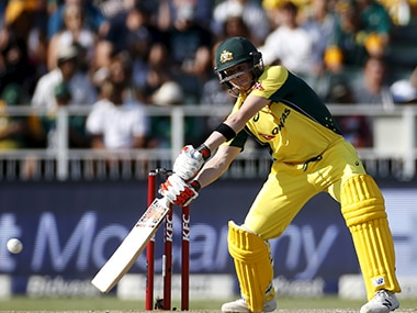 Australia's Steven Smith during a T20 International against South Africa at the Wanderers on 6 March. AFP