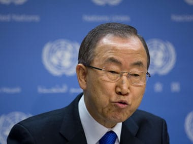 File photo of UN Chief Ban Ki-moon. AP