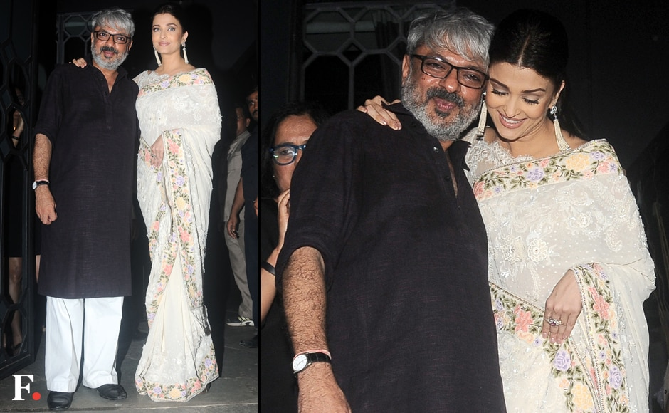Deepika Padukone may now be his favourite actress to work with, but Bhansali also traded hugs with his onetime muse Aishwarya Rai Bachchan at the party. Image by Sachin Gokhale/Firstpost