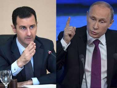 Bashar al-Assad and Vladimir Putin in a file photo. Reuters