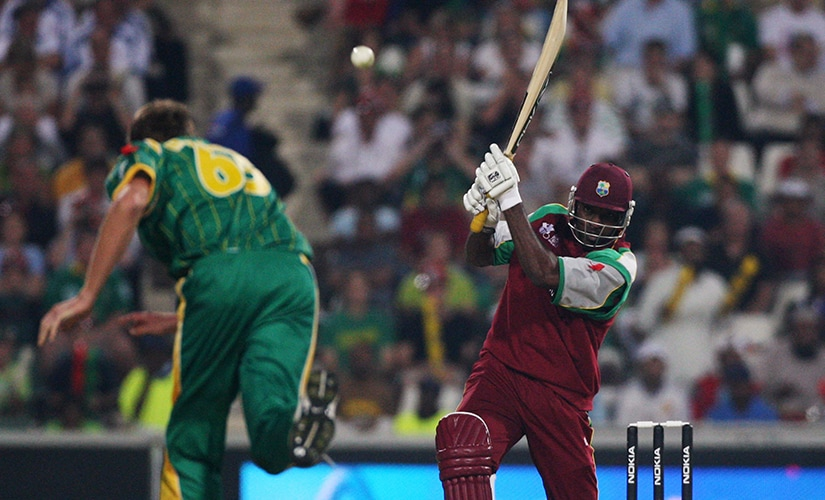 It was only fitting for the inaugural game of the inaugural edition of the tournament to get off in style with fireworks from Chris Gayle's bat. Getty Images