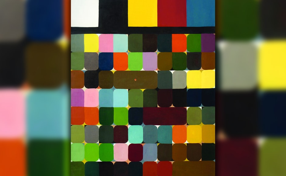 'Colour Alphabet, oil on canvas.' Last year, an exhibition titled 'Abby Grey and Indian Modernism' held in New York from the NYU Art Collection was instrumental in placing the late artist on the international map. It was a carefully curated exhibition of works by twenty topmost Indian Modern artists. Among the oils on canvas displayed was a Self Portrait by Vazifdar from 1965.