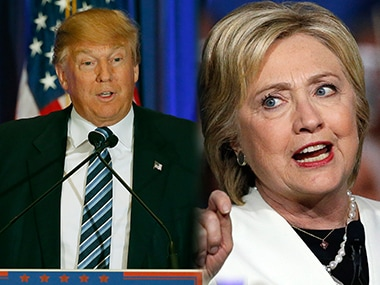 Donald Trump and Hillary Clinton in file photos. AFP