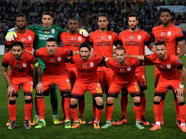 File photo of Galatasaray's players. AFP