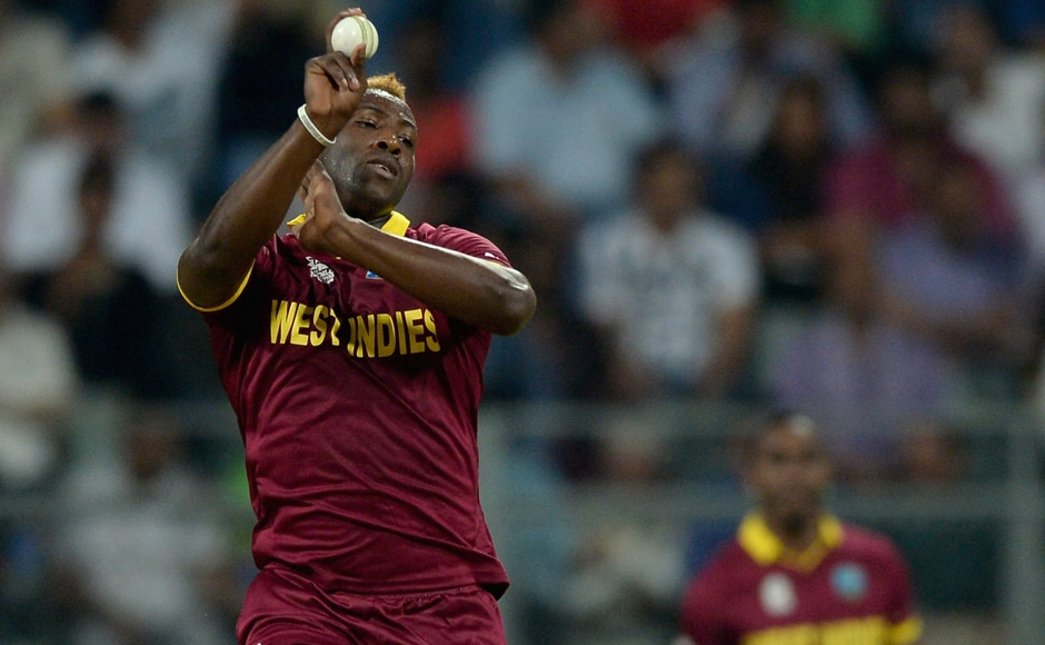 Andre Russell (above) dismissed both Jason Roy and Joe Root. Getty Images