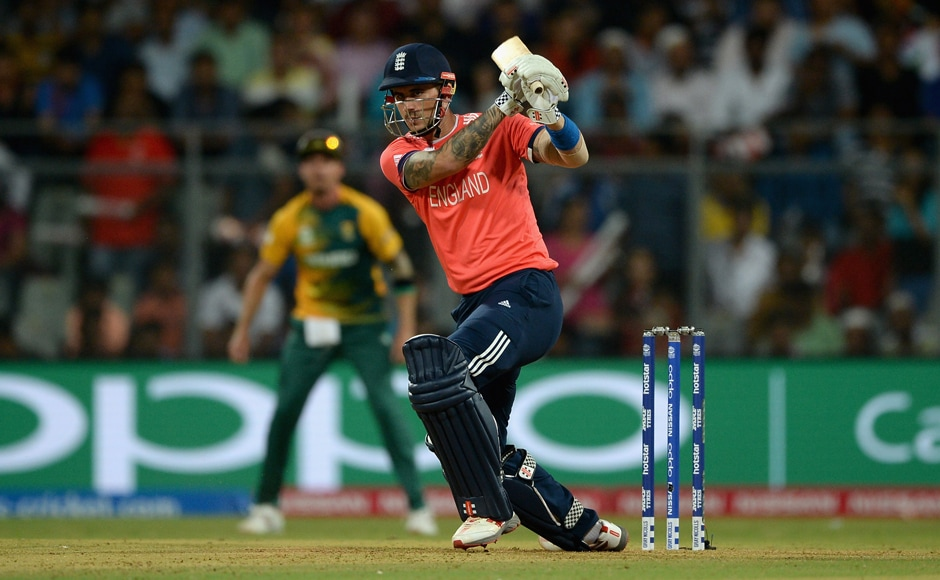 Alex Hales of England bats during the England chase. Getty Images