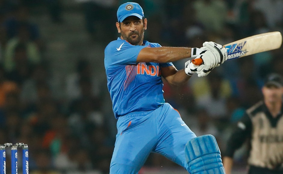 MS Dhoni was the standout batsman for India, hammering a run-a-ball 30, and sticking the to the crease till the end. AP